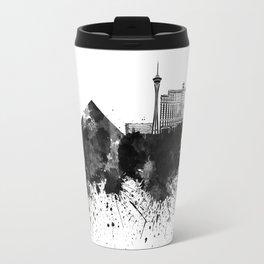 Las Vegas skyline in black watercolor Travel Mug