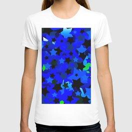 Punk Rock Stars Blue T-shirt