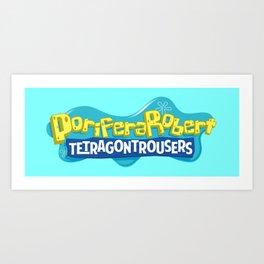 PoriferaRobert TetragonTrousers Art Print