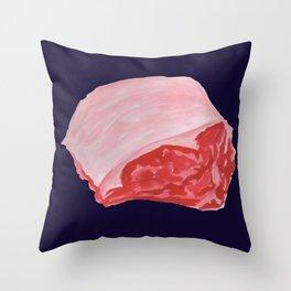 Beef Cuts (Dark Blue) Throw Pillow