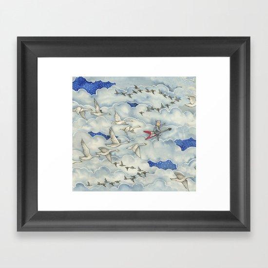 Brevan and the Flying V Framed Art Print