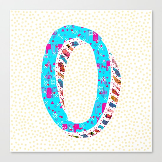 O (Coffee Series) Canvas Print
