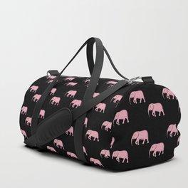 Pink Elephants . Black Art Prints Duffle Bag