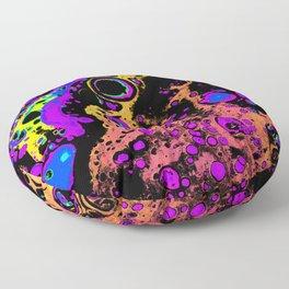 Atomic - Orange Floor Pillow