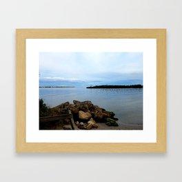 Calm on the inlet Framed Art Print