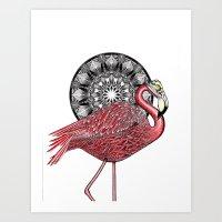 Flamingus Art Print