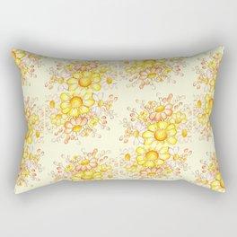 Faded Flowers Pattern Rectangular Pillow
