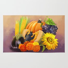 Commisions | Bat autumn harvest Rug