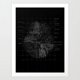 Cerebral in BW Art Print