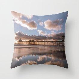 Cotton Sky Beach Throw Pillow