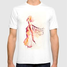 comes light MEDIUM Mens Fitted Tee White