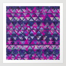 Pink and Purple Triangles Art Print