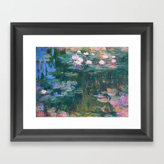 Claude Monet - Water Lilies Gerahmter Kunstdruck