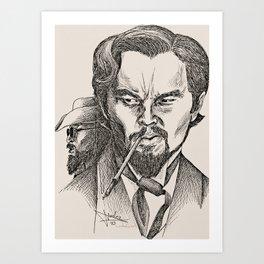 Monsieur Candie vs. his nemesis Art Print