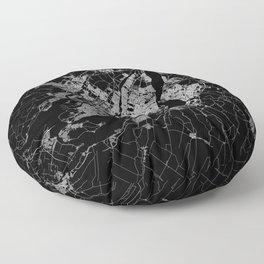 montreal map Floor Pillow