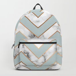 Marble background with gold details VI Backpack