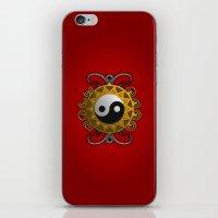yin yang iPhone & iPod Skins featuring Yin Yang by Pedro Vale