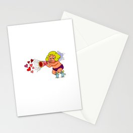 """LOVE - Loud & Clear { Boy Cupid }"" by Jesse Young ILLO Stationery Cards"