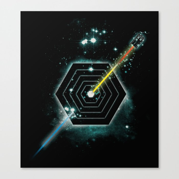 Space and Time Fragmentation Ship Canvas Print