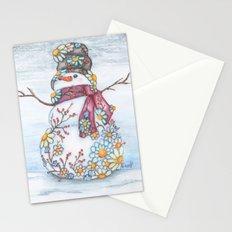 Daisy Snowman Stationery Cards