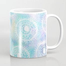 Watercolor Moon Mandala Coffee Mug
