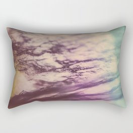 Purple Blue Fluorite from our Earth Rectangular Pillow