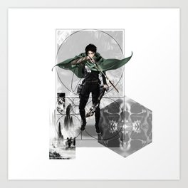 Captain Levi Attack on Titan Shingeki no kyojin Art Print