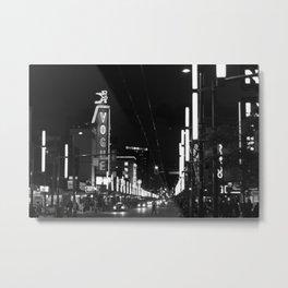 Granville St after dark 3 Metal Print