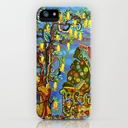 """Xochipilli's Golden Child"" by ICA PAVON iPhone Case"