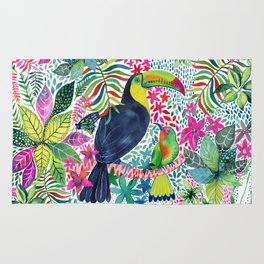 Toucan in the Rainforest Rug