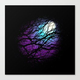 lights in the forest Canvas Print