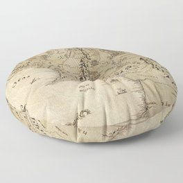 Lord Of The Ring (Map) Floor Pillow