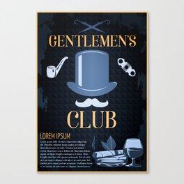 Gentleman's Club Poster Canvas Print