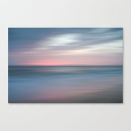 The Colors Of Evening On The Beach - Coastal Abstract Landscape Photograph Canvas Print
