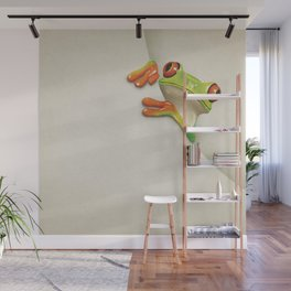 Little Red Eyed Tree Frog Wall Mural