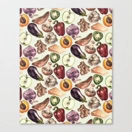 Food Pattern Canvas Print