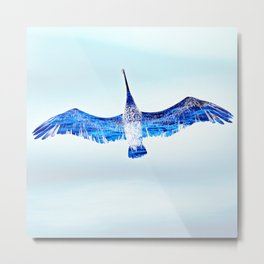 """Mirror Wings"" Metal Print"
