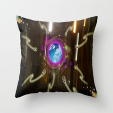 Alien  Attack Throw Pillow