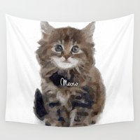meow Wall Tapestries featuring Meow! by 83 Oranges™