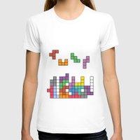 tetris T-shirts featuring Tetris by Monchi