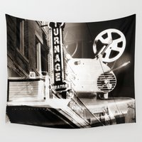 theater Wall Tapestries featuring Turnage Theater by Justin Alan Casey