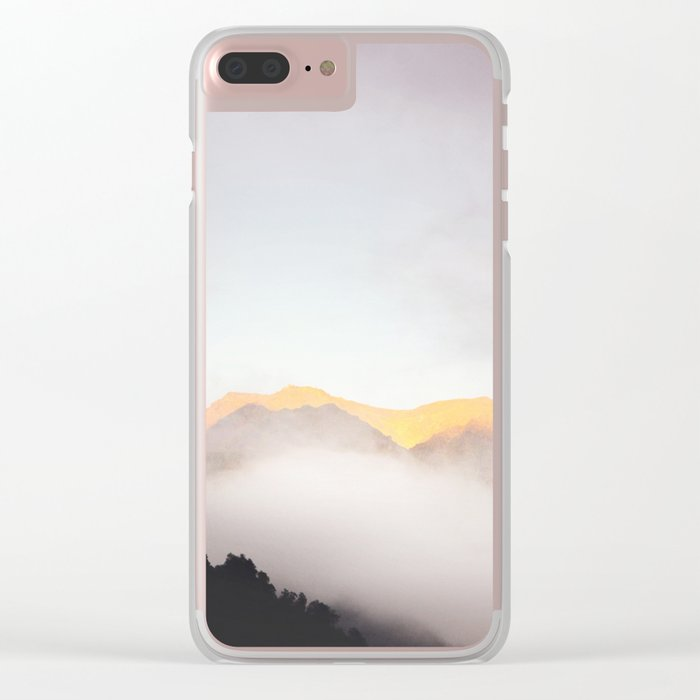 Pastel Mountains #photography Clear iPhone Case