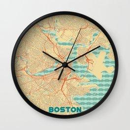 Boston Map Retro Wall Clock