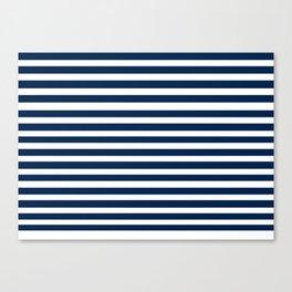 Navy-White ( Stripe Collection ) Canvas Print