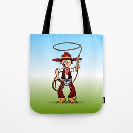 Cowboy with a lasso Tote Bag