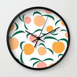 Peach Me Wall Clock