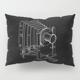 Vintage Camera Blueprint Sheet One Pillow Sham