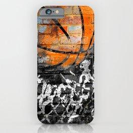 Basketball poster art print - swoosh 117 basketball artwork iPhone Case