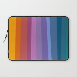 Modern Bright Rainbow Abstract Stripes Laptop Sleeve