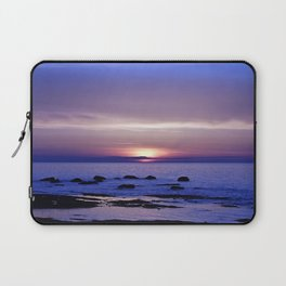 Blue and Purple Sunset on the Sea Laptop Sleeve